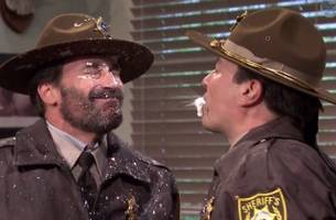 WATCH: Jimmy Fallon and Jon Hamm Spit Food at Each Other…